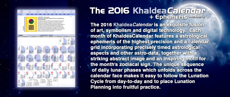 2016 Khaldea Astrological Calendar
