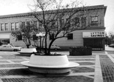 Lytton Plaza, University Avenue, Palo Alto, California.