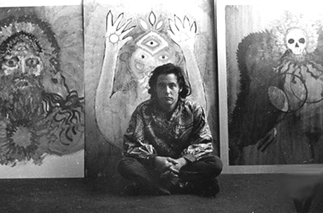 Michael Bowen in his studio. c. 1967.